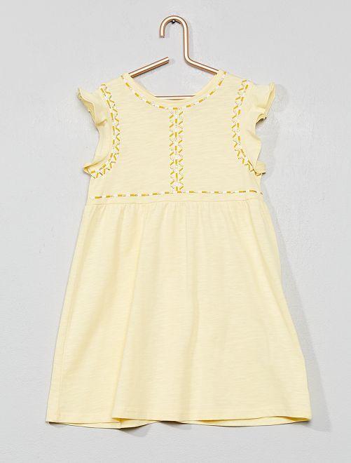 Vestido con adorno brillante                             AMARILLO Bebé niña