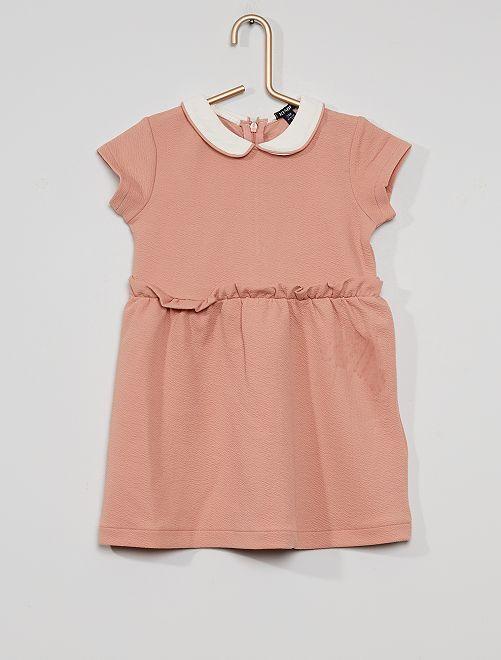 Vestido con cuello bebé                                         rosa