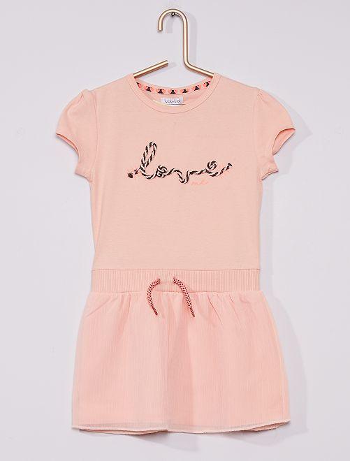 Vestido con enagua                             rosa