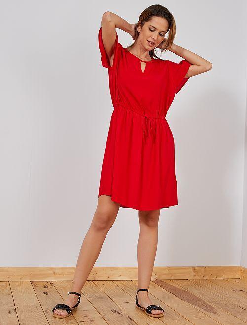 Vestido con escote delantero y trasero                                                                             ROJO Mujer talla 34 a 48