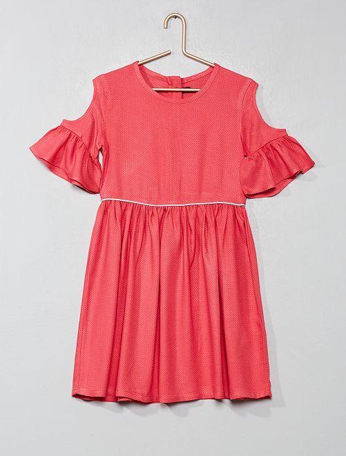 Vestido con hombros calados                                                                             rosa Chica