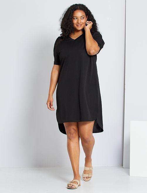 Vestido con manga globo                             negro