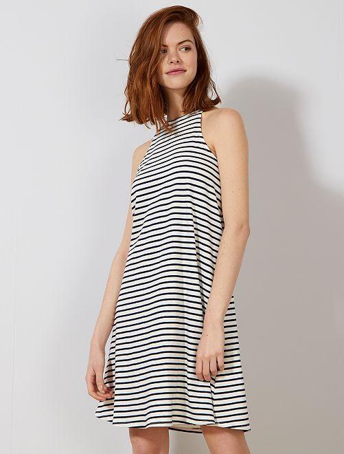 Vestido con sisa americana                                         BLANCO Mujer talla 34 a 48