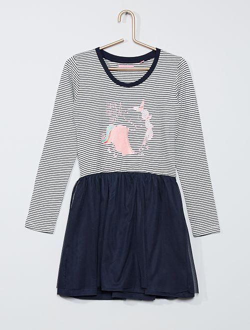 Vestido con tul 'unicornio'                                         azul