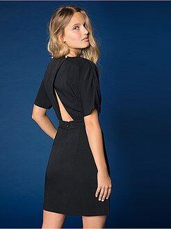 Vestidos negros - Vestido corto a rayas - Kiabi