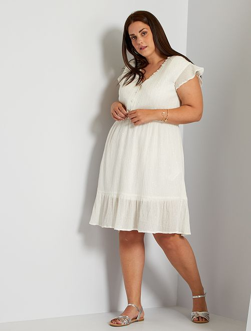 Vestido corto blanco                             blanco nieve