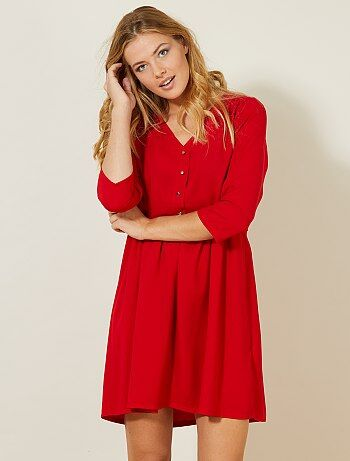 Mujer talla 34 to 48 - Vestido corto con detalles de botones - Kiabi