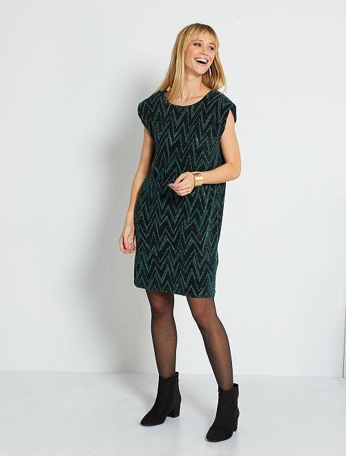 Vestido corto con escote en la parte trasera                                         verde