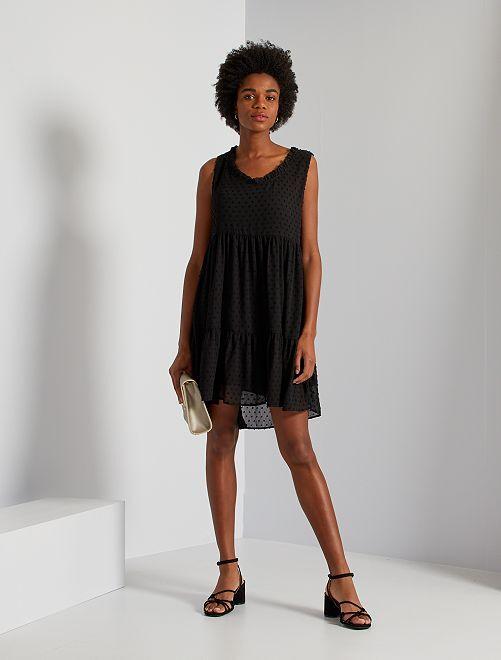 Vestido corto de plumeti 'JDY'                             negro