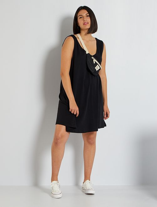 Vestido corto de punto                                         negro