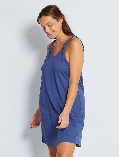 Vestido corto 'eco-concepción'                                                                 azul cobalto