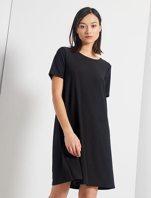 Vestido corto eco-concepción                                                                             negro