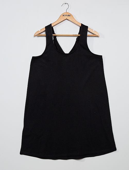 Vestido corto 'eco-concepción'                                                     negro