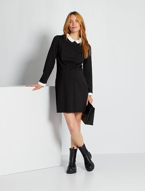 Vestido corto premamá                                         negro