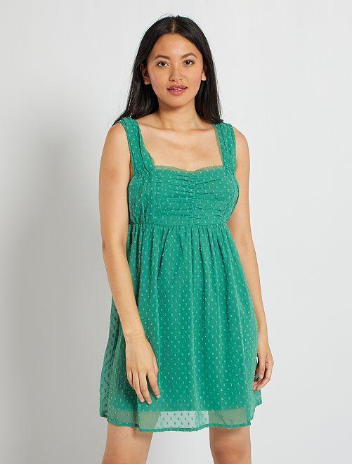 Vestido corto                                         verde pino