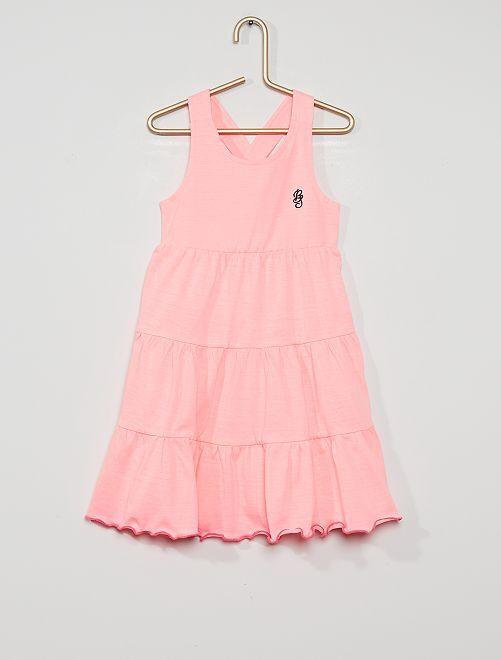 Vestido de algodón                                         rosa