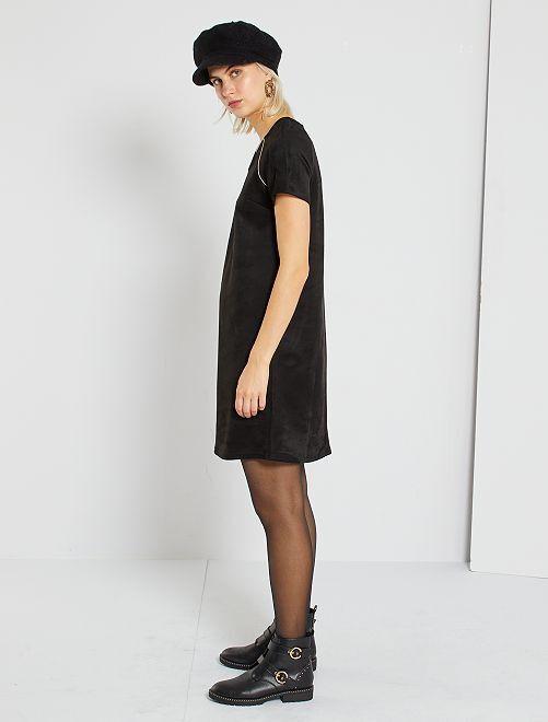 Vestido de antelina                             negro