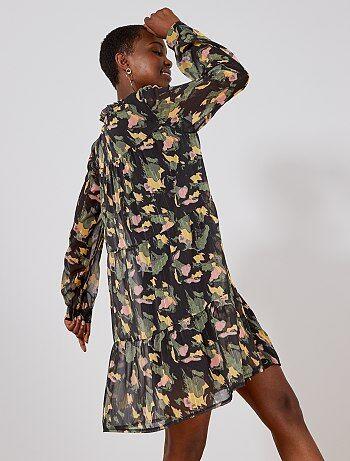 2321369a46 Vestido de camuflaje de gasa - Kiabi
