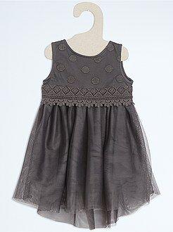 Niña 0-36 meses Vestido de ceremonia con falda de tul