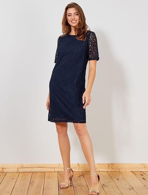 Vestido de encaje                             azul Mujer talla 34 a 48