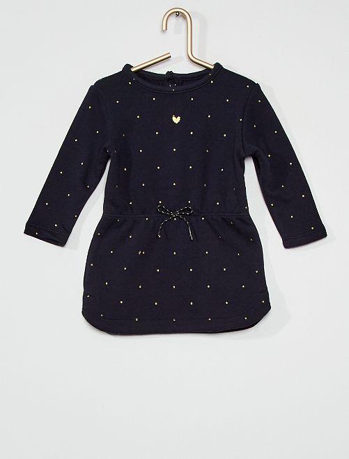 Vestido de felpa                                                                             azul lunar
