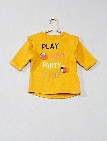 Niña 0-36 meses - Vestido de felpa con mensaje - Kiabi 013898ac0654