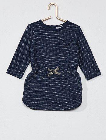 Niña 0-36 meses - Vestido de felpa estampado - Kiabi
