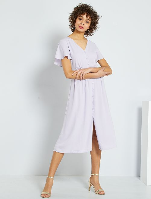 Vestido de fiesta abotonado                                                     ROSA