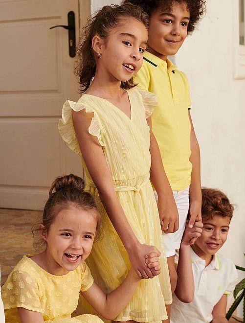 Vestido de fiesta                                         amarillo limón