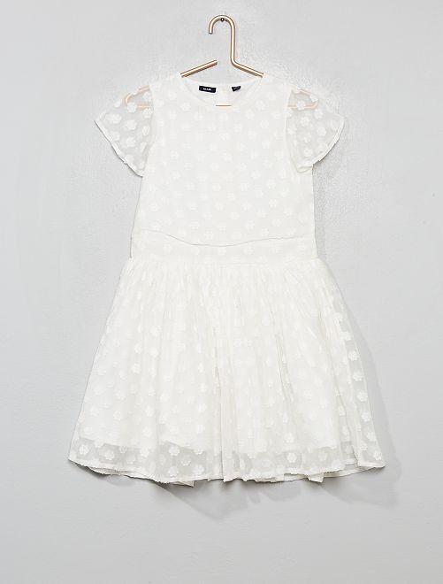 Vestido de fiesta de flores                                         blanco nieve