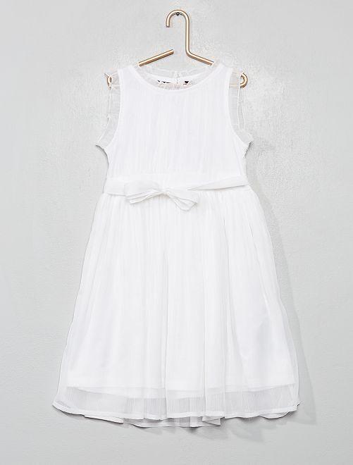 Vestido de fiesta de muselina                                         blanco nieve