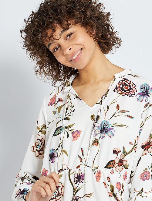 Vestido de flores 'JDY'                             BLANCO