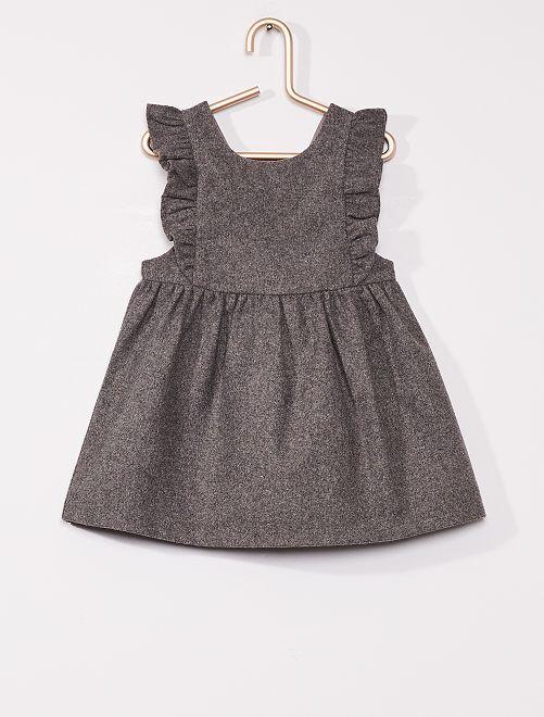 Vestido de franela eco-concepción                             GRIS