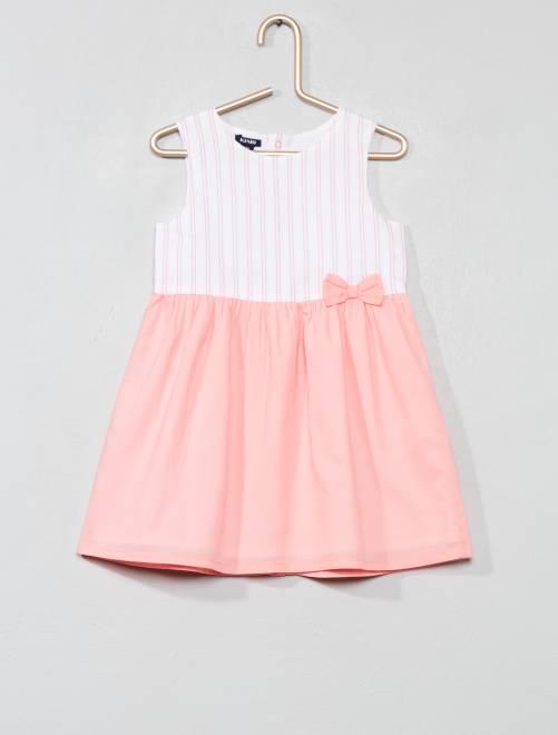 Vestido de gasa de algodón                                                                                                     BLANCO Bebé niña
