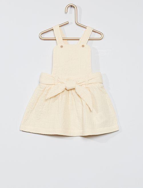 Vestido de gasa de algodón                                                     crudo