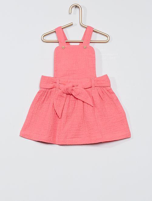 Vestido de gasa de algodón                             ROSA