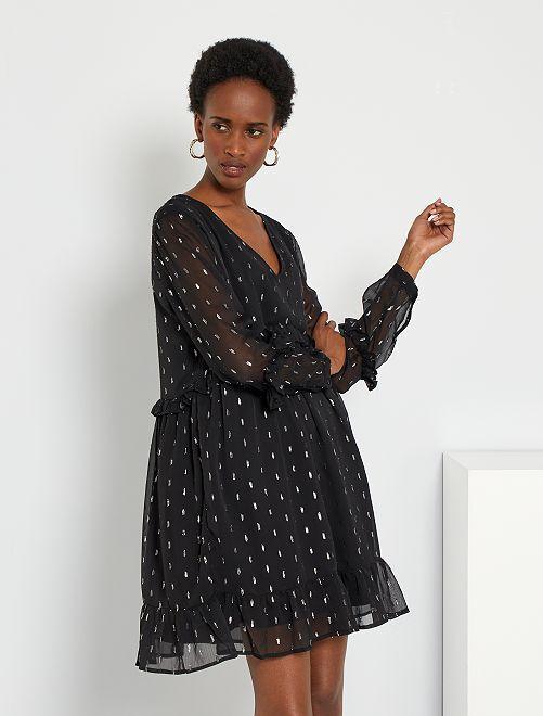 Vestido de gasa 'JDY'                             negro