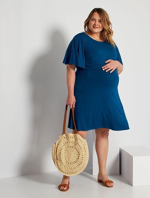 Vestido de lactancia                                                                 azul poseidon