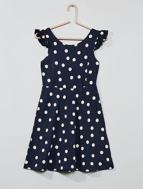 Vestido de lunares                                                                                         azul marino Chica