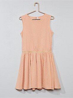 Vestidos, faldas - Vestido de lunares de crepé - Kiabi