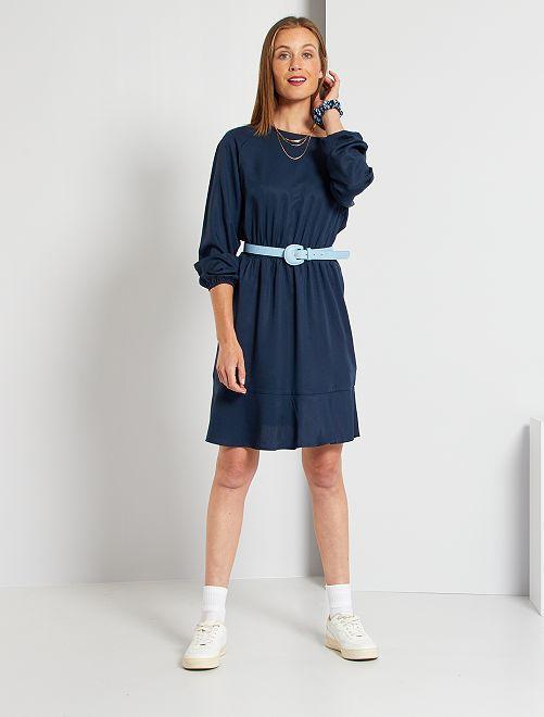 Vestido de lyocell                                                     azul