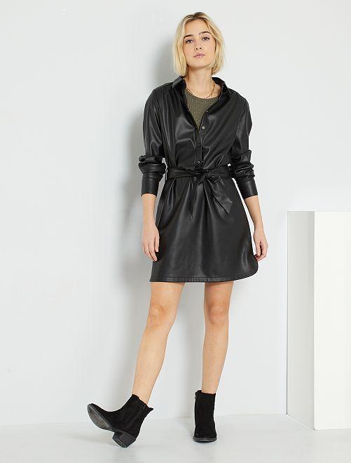 Vestido de material sintético                                                     negro