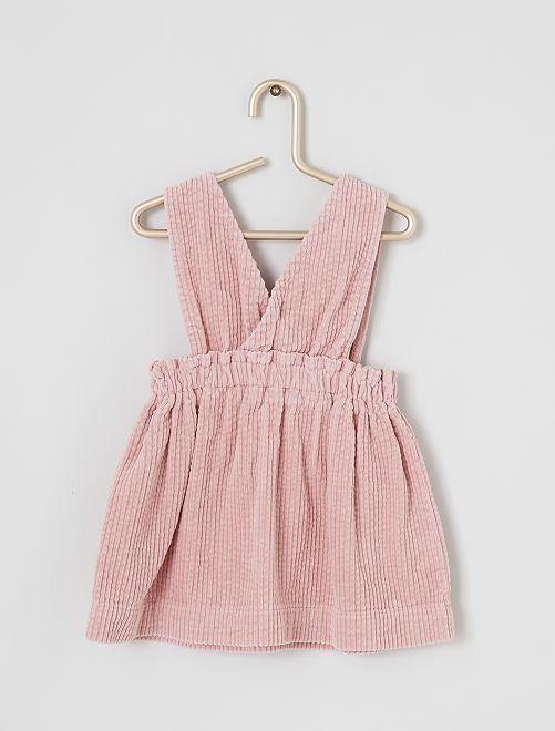 Vestido de pana                                                                 rosa