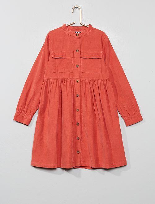 Vestido de pana                             viejo rosa