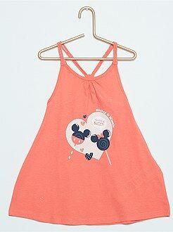 Niña 0-36 meses Vestido de playa con tirantes trenzados de 'Minnie'