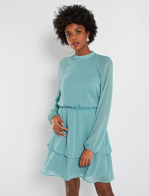 Vestido de plumeti                                         azul
