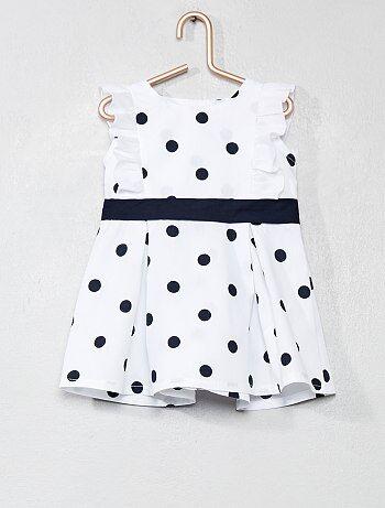 Niña 0-36 meses - Vestido de popelina de algodón con lunares - Kiabi a32058ca7c3c