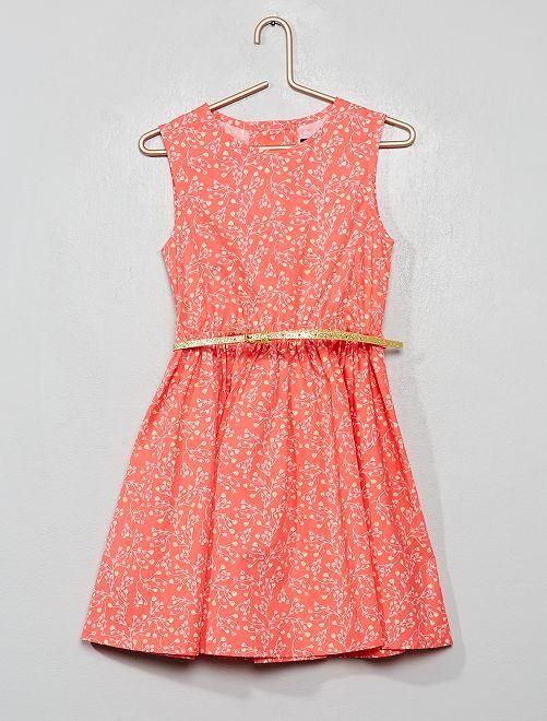Vestido de popelina espalda abierta                                                                             ROSA