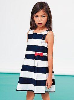 Niña 3-12 años Vestido de popelina estampada sin mangas