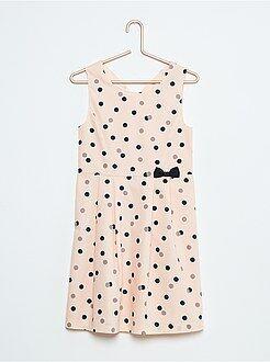 Vestidos, faldas - Vestido de popelina estampada sin mangas